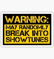 Pegatina advertencia, puede romper aleatoriamente en melodías