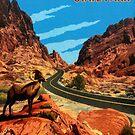 Valley of Fire State Park Nevada Vintage Travel Decal by hilda74