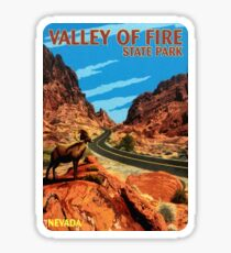 Pegatina Valley of Fire State Park Nevada Vintage Vinilo de viaje