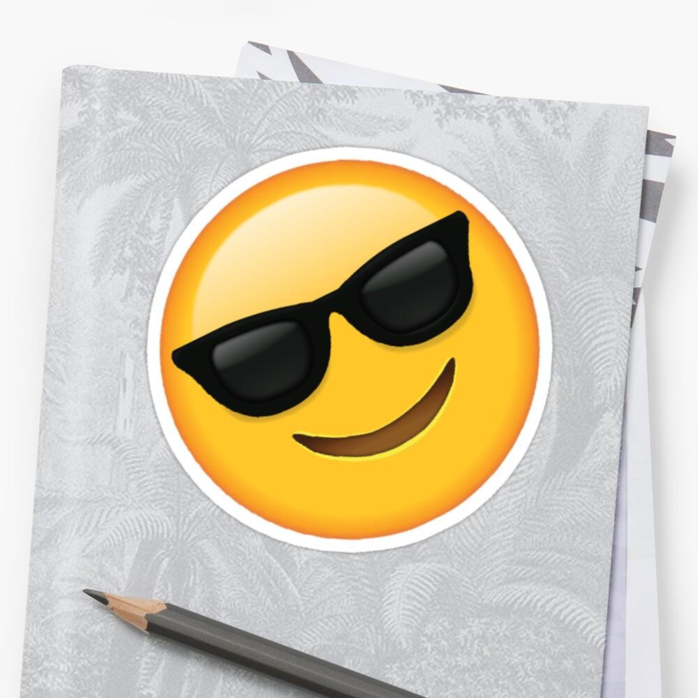 Lunettes de soleil Emoji Unisexe jaunes