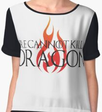 Fire Cannot Kill a Dragon with Flames Women's Chiffon Top