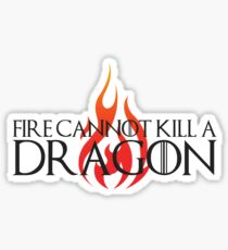 Fire Cannot Kill a Dragon with Flames Sticker