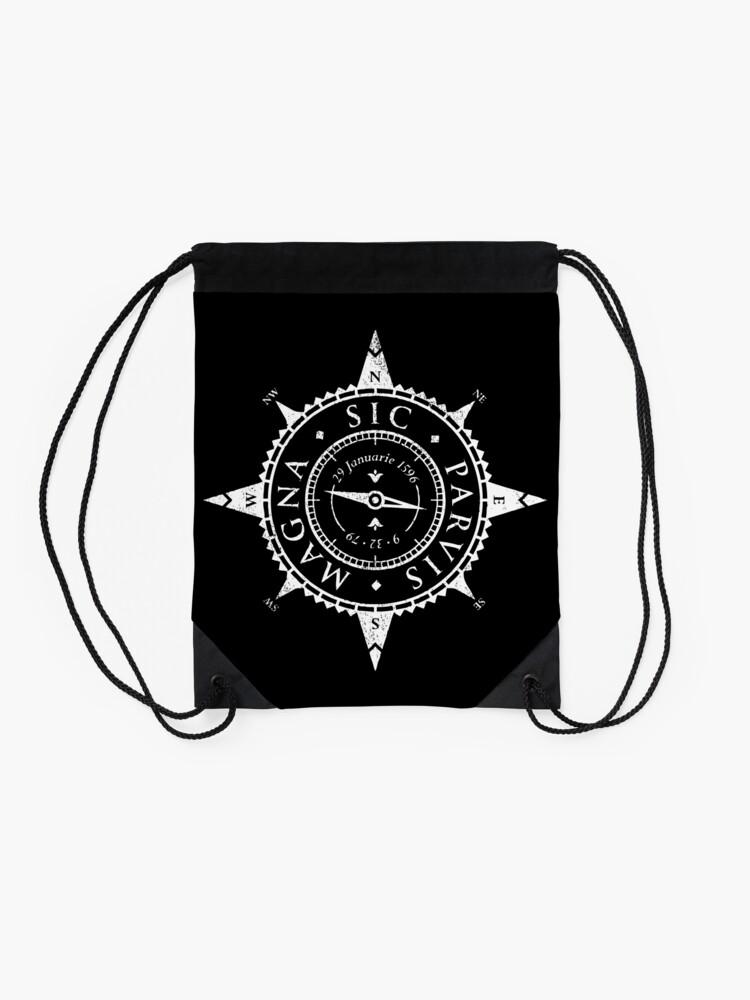 Alternate view of Uncharted Adventure (white) Drawstring Bag