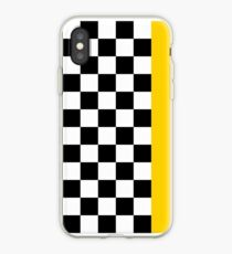 Checkerboard iPhone Case (Yellow Stripe) iPhone Case