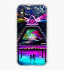 Static Intelligence - VHS 80's Glitch iPhone Case