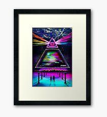 Static Intelligence - VHS 80's Glitch Framed Print