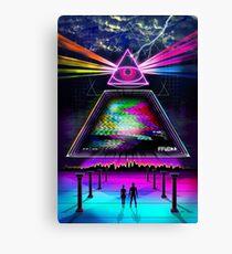 Static Intelligence - VHS 80s Retro Glitch Canvas Print