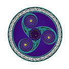 Celtic Triskell (blue and purple)  by Antony Potts