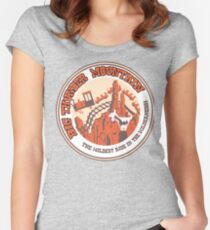 Big Thunder Mountain (orange and yellow) Fitted Scoop T-Shirt