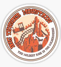 Big Thunder Mountain (orange and yellow) Sticker