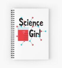 Science Girl Spiral Notebook