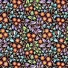 Filigree Floral - smaller scale by PatriciaSheaArt