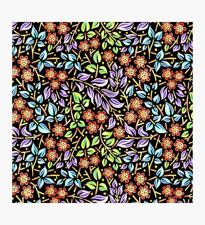 Filigree Floral - smaller scale Photographic Print
