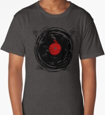 Enchanting Vinyl Records Vintage Twirls Long T-Shirt