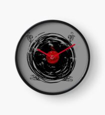 Enchanting Vinyl Records Vintage Twirls Clock