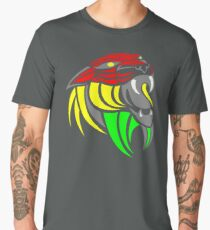 Reggae Music Cool Lion Reggae Colors T Shirts and Stickers Men's Premium T-Shirt