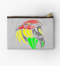 Reggae Music Cool Lion Reggae Colors T Shirts and Stickers Studio Pouch