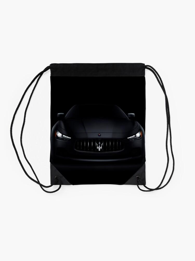 Alternative Ansicht von Luxusauto Maseratis Ghibli S Q4 auf schwarzem Kunstfotodruck Turnbeutel