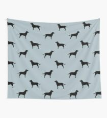 Tela decorativa Black Labrador Retriever Silhouette (s)