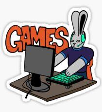 PC Gamer Bun - Bunny Playing PC Games Sticker