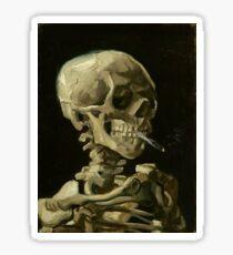 Vincent van Gogh - Head of a Skeleton with Burning Cigarette (1886) Sticker