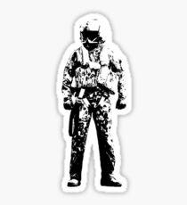 Pilot Soldier Sketch Sticker