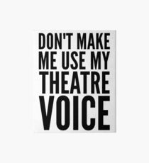 Lámina de exposición no me hagas usar mi voz de teatro