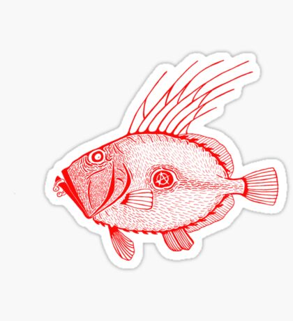 Punk fish Sticker