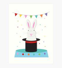 magic rabbit in tophat  Art Print