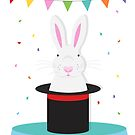 magic rabbit in tophat  by creativemonsoon