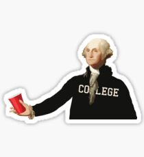 GEORGE WASHINGTON red solo cup  Sticker