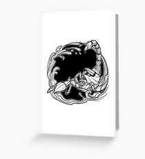 Astrological scorpio black sketch isolated on white background Greeting Card