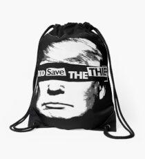 God Save the Thief Drawstring Bag