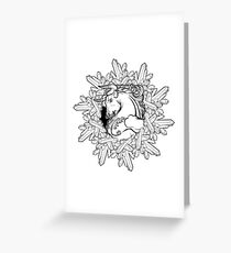 Element of Earth Zodiac sign Taurus. BW sketch Greeting Card