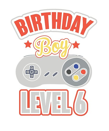 6th Birthday Boy Gaming T Shirt Kids Happy Gamers Tee By Larspat