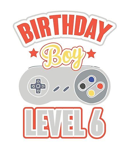 6th Birthday Boy Gaming T Shirt Kids Happy Gamers Tee