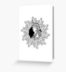 Element of Earth. Zodiac sign Virgo. BW sketch Greeting Card