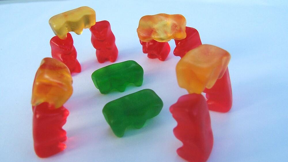 Gummy Stonehenge by Diana Forgione