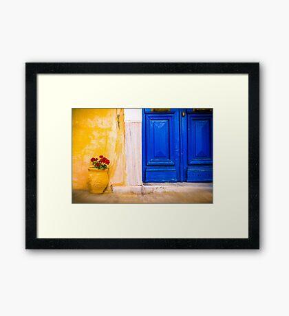 The Yellow Pot Framed Print