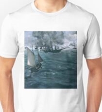 """The Battle of the U.S.S. """"Kearsarge"""" and the C.S.S. """"Alabama"""" 1864 Edouard Manet T-Shirt"""