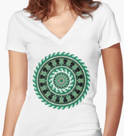 The Turtle (Keya)  Women's Fitted V-Neck T-Shirt