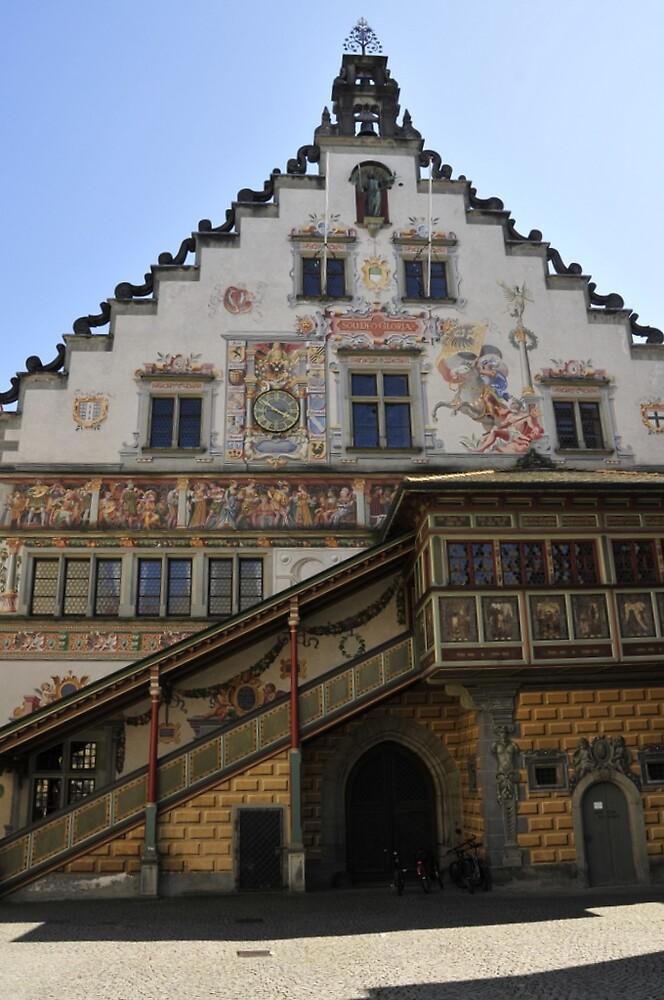 Painted house in Lindau by bertspix