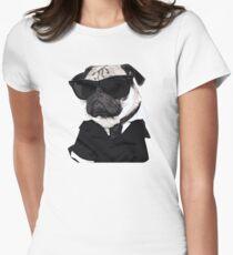 Pug in Black T-Shirt