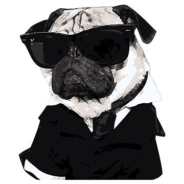 Pug in Black by skorretto