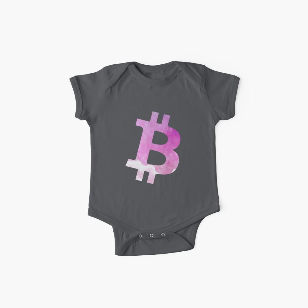 Bitcoin Pink Baby Bodys