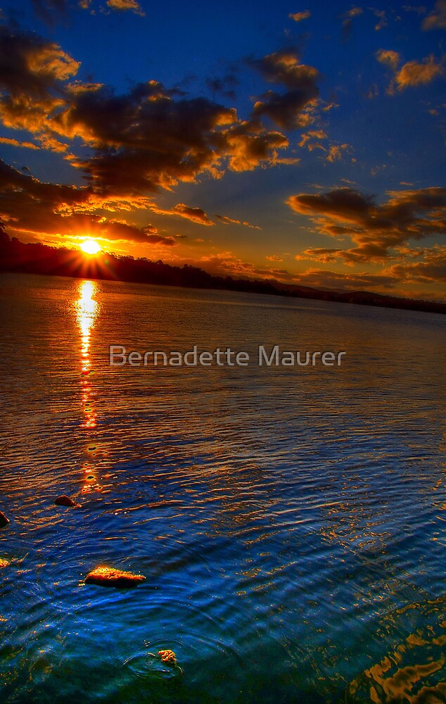 Sunset over Lake by Bernadette Maurer