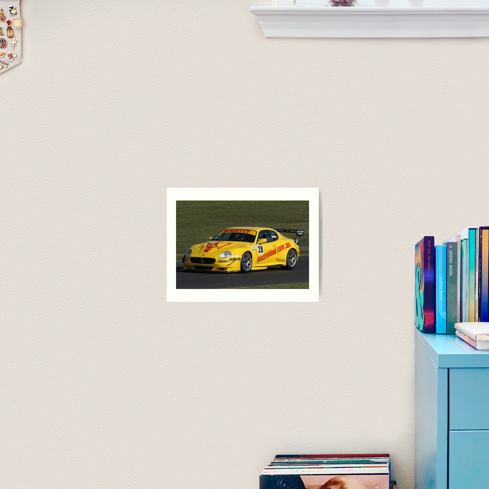 Maserati yellow Art Print
