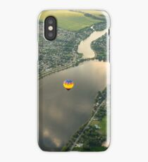 Hot Air Balloons Flyover the Richelieu River in Quebec Canada iPhone Case/Skin