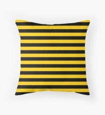 Black and Yellow Bee | Stripes  Throw Pillow