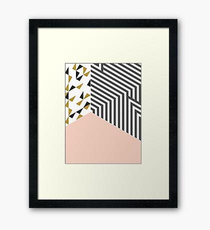 Pink&Gold Room #redbubble #decor #buyart Framed Print